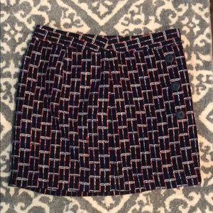 Plaid tweed Loft mini pencil skirt